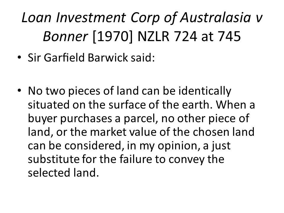 Loan Investment Corp of Australasia v Bonner [1970] NZLR 724 at 745